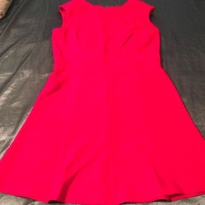 Chaps Red textured A line knee length dress